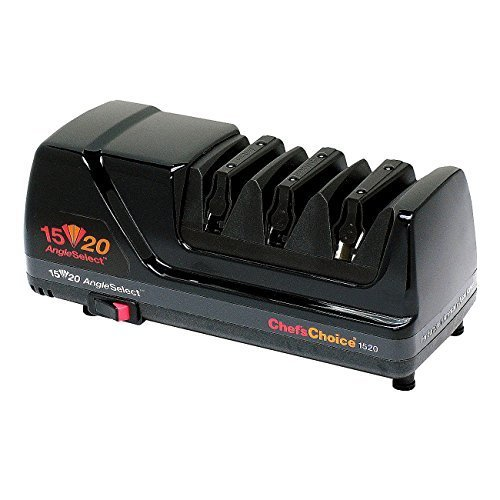 Chef's Choice 1520 Angle Select Diamond Hone Sharpener, Black by Chef's Choice