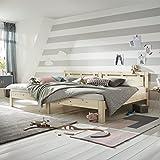 Ecolignum Familienbett Altera ( 240270) 270x200 cm Co Sleeping Massivholzbett Polarkiefer unbehandelte Oberfl che Super Size Bett