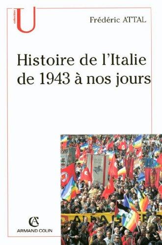 Histoire de l'Italie depuis 1943 à nos jours