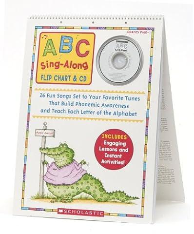 ABC Sing-Along Flip Chart & CD: 26 Fun Songs Set