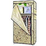 N&B Wechseldatenträger Schrank veranstalter kleiderschrank Kleidung Rack mit regalen Kleidzahnstange mit Deckel Zusätzlichen Platz Staubdichte Abdeckung durch-B 70x45x150cm(28x18x59)