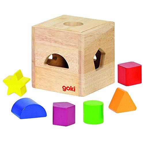 Goki-58628 Puzzles de Madera Caja de Formas, (4013594586283)