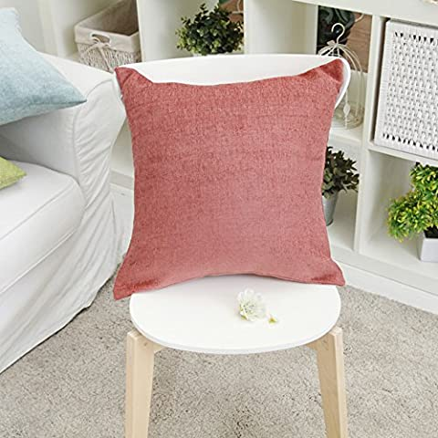 More colors/Chenille solid color cushion/ simple-style pillow/pillowcase for sofa and bed -D