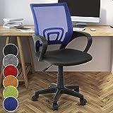 Miadomodo Ergonomischer flexibler Bürodrehstuhl Schreibtischstuhl Bürosessel in 6 Farben (Blau)