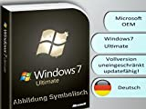 Windows 7 Ultimate 64 Bit DVD + Lizenzsticker, Multilingual, frustfreie Lieferung