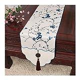 JUNYZZQ Tischläufer Klassische Couchtisch Langer Streifen Stoff Im Chinesischen Stil Tischdecke Bett Kabinett Flagge Tv Kabinettuch 30X150Cm