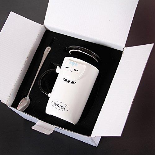 Mugcap das Büro der Continental Cup Kreative einfach personalisierte Tasse Milch Cup Home Cup Nordic suchen Becher, Augenabstand Katzen und exquisites Geschenk Box -