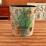 Lejia Haushalt Mülleimer, Haushalt Wohnzimmer Schlafzimmer Ohne Abdeckung Erfrischende Große Mülleimer Kreisförmige Kreative Stilvolle Büro Müll 10L (Farbe : B)