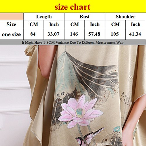 Zhhlinyuan Fashion Women's Slip Nightgown Satin Nightdress Lingerie Babydoll Chemise Nightwear Light Brown