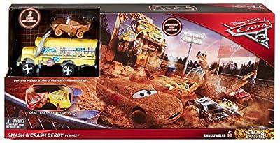 Mattel Disney Cars DXY95 - Disney Cars 3 Cooles Crash-Derby Spielset von Mattel GmbH