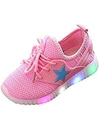 89635ee5862d9 Solike Star Lumineux Chaussures de Sport Enfant Mode Fille Garçon Enfant  Baskets lumière colorée ...