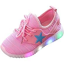 Solike Star Lumineux Chaussures de Sport Enfant Mode Fille Garçon Enfant  Baskets lumière colorée ... b3bf7167e2b5