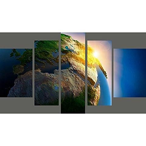 Blaue Landschaft Dekoration Videos 230gsm einfach Lackier- triple Eindruck Karte Art Printing