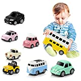 8 Stück Kinder Spielzeugauto - Pull-Back Fahrzeug Legierung Puzzle Q Version Mini Auto Modell-Spielzeug für Kleinkinder -Spielzeug Push und Go Reibung Powered Auto Spielzeug
