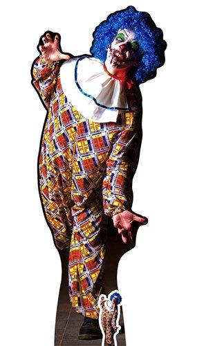 Star Aussparungen ES IST EINE sehr unheimlich Stecker Clown Karton inkl. Halloween Desktop Ausschnitt, Holz, Mehrfarbig, 175x 68x 175cm (Karton Ausschnitte Für Halloween)