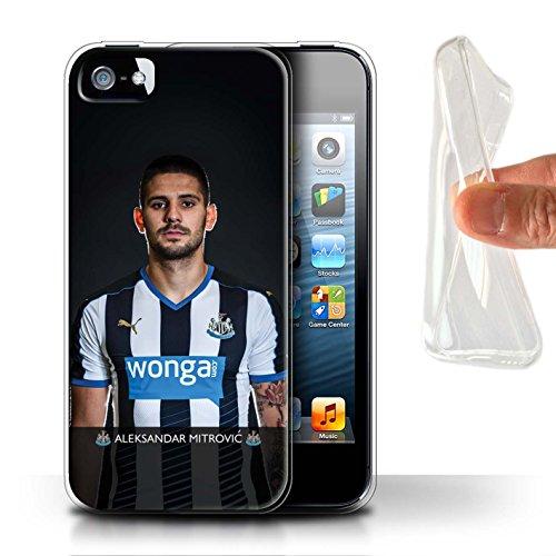 Offiziell Newcastle United FC Hülle / Gel TPU Case für Apple iPhone 5/5S / Pack 25pcs Muster / NUFC Fussballspieler 15/16 Kollektion Mitrovic