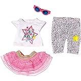 Zapf Creation 822241 - bebé nacido, traje de glamour de lujo, rosa