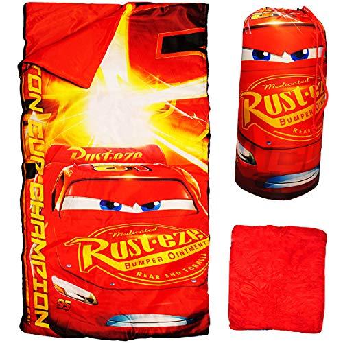 2 Stück _ 2 in 1 : Schlafsack & XL Decke - 140 cm - Disney Cars - Auto - Lightning McQueen - komplett aufklappbar - Kinder Camping - sehr leicht - warm - Kind.. ()