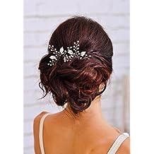 Yean mariée mariage épingles à cheveux Pinces à cheveux pour femmes et filles (lot de 2)