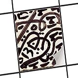 creatisto Bad Küche Fliesensticker Aufkleber Folie | Badsticker Bad-Fliesen Fliesenmotiv Badezimmer-Deko | 20x25 cm Muster Ornament Spanish Tile 2-1 Stück