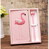 Preisvergleich für Tery Geschenk Sparschwein Flamingo Geschenke für Mädchen Cute Flamingo Briefpapier Tagebuch Notizbuch und Stift Journal Set (Single Flamingo)