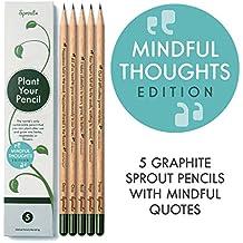 Sprout Bleistifte - Mindful edition |5er Set| aus unbehandeltem Bio Naturholz und bleifreien Minen|Graphit-Stift zum Pflanzen