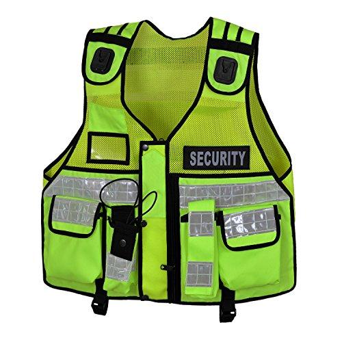 Hi Viz taktische Weste, Hundeführer CCTV, grün (Nylon Sicherheits-weste)