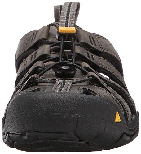 Keen Clearwater Leather Cnx, Sandali a Punta Chiusa Uomo Nero