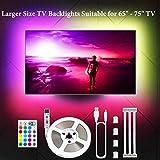 "LED TV Hintergrundbeleuchtung, 4.36M LED Strip LED Streifen USB 5050 RGB 106 LEDs 16 Farben 4 Modus für 65"" -75"" HDTV, PC Monitor, Hause Dekor MEHRWEG"