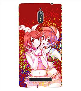 ColourCraft Friends Forever Back Case Cover for OPPO FIND 7