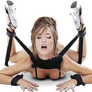 Cksohot Set Bondage Manette BDSM per Coppie, Maschi e Femmine - Nero