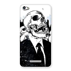 Delighted Skull Laugh Back Case Cover for Micromax Hue 2