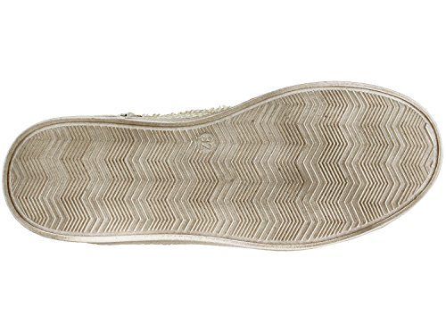 Momino 2880N fille femme haute chaussures basses Baskets Weiß-Gold (5889)