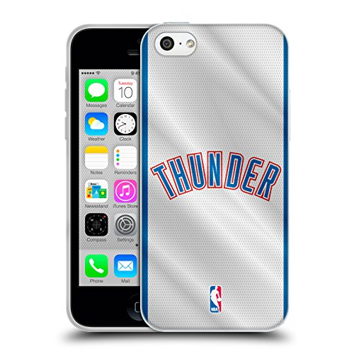 Officiel NBA Plaine Oklahoma City Thunder Étui Coque en Gel molle pour Apple iPhone 5 / 5s / SE Jersey