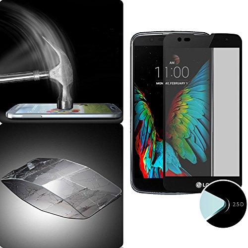 Donkeyphone S23K1013200 - Protector de pantalla completa de cristal curvo 3D para LG K10, color Negro