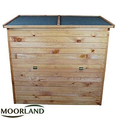 Auflagenbox: Gartenbox aus Holz 126 x 119 x 69 cm | ca. 650 l Volumen stabile Gartentruhe für Auflagen, Kissen, Werkzeug von Moorland auf Du und dein Garten