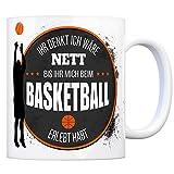 trendaffe - Kaffeebecher mit Basketball Motiv und Spruch: Ihr Denkt Ich wäre Nett bis Ihr Mich Beim Basketball erlebt habt