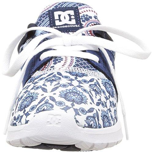 Dc Shoes Heathrow Se J, Baskets Donna Multicolore (multicolore (imprimé Bleu))