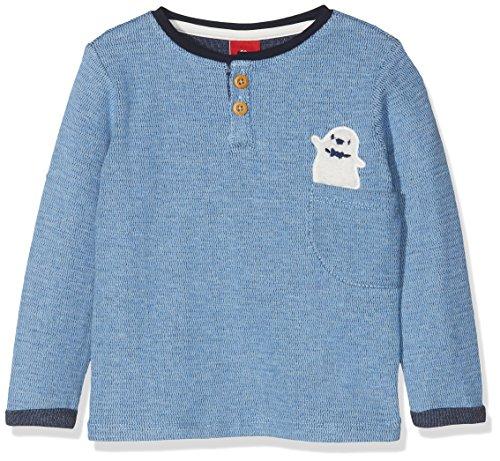s.Oliver Baby-Jungen 65.808.31.8100 Langarmshirt, Blau (Blue Melange 53w4), 74 -