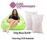 #2: Casa Copenhagen 2 Kg Premium A-Grade Bean Bag Refill/Filler