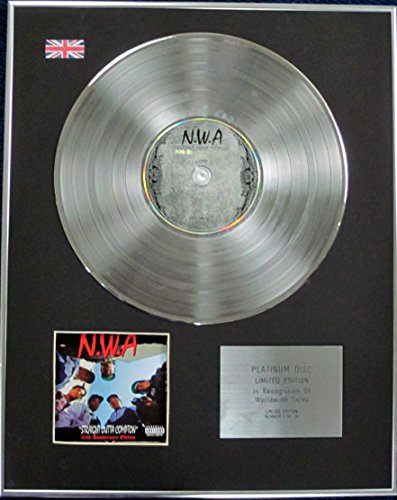NWA-Limited Edition CD Platinum Disc-gerade Outta Compton