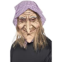 De Halloween Para Dama Antiguo Bruja Máscara Con Pañuelo Para La Cabeza