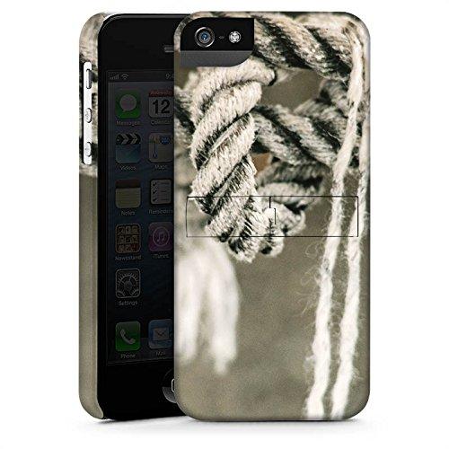 Apple iPhone 4 Housse Étui Silicone Coque Protection Corde Navigation N½ud CasStandup blanc
