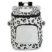 Zappi Co Childrens Boys Girls Animal School Nursery Backpack Bag - Snow Leopard