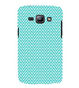 Lite Green Chevron 3D Hard Polycarbonate Designer Back Case Cover for Samsung Galaxy J1 :: Samsung Galaxy J1 J100F (2015)