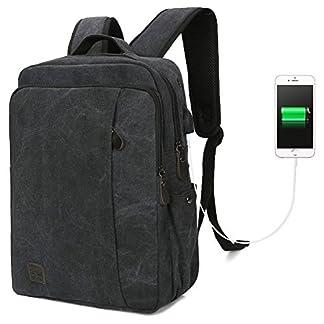 "51kFlPlIyvL. SS324  - Koolertron Mochila Portátil de Tela Bolsa de Escuela Universitaria con puerto USB para 14"" Laptop Notebook"