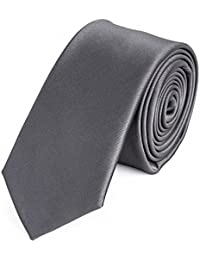 Krawatte schmal grau einfabig von Fabio Farini