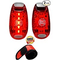 LED éclairage de sécurité Premium stroboscopiques de lumières–avec bande à clipser–visibilité maximale pour les coureurs, les cyclistes, les randonneurs–Clip ou Sangle pour corps, vélo Post, collier pour chien–Facile à utiliser pour un maximum de sécurité