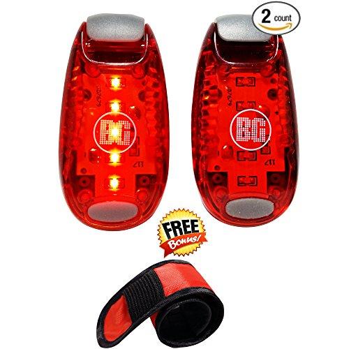 LED Sicherheitsleuchte Premium stroboskopische Lauflichter - mit Klack-Band - Maximale Sichtbarkeit für Läufer, Radfahrer, Wanderer - An der Körper, Sattelstütze, Hundehalsband anschnallen oder klammern - Leicht zu bedienen, für maximale Sicherheit