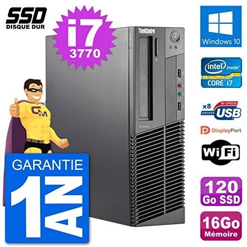 Lenovo PC ThinkCentre M92p SFF Intel i7-3770 RAM 16 GB SSD 120 GB Windows 10 WiFi (überholt) (Lenovo Thinkcentre I7 Ssd)